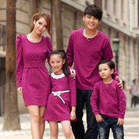Đồng phục gia đình váy cho mẹ và bé 2