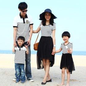 Đồng phục gia đình váy cho mẹ và bé 1